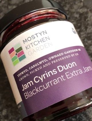 Mostyn Kitchen Gardens Blackcurrant Extra Jam